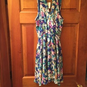 Lush Floral Print Dress